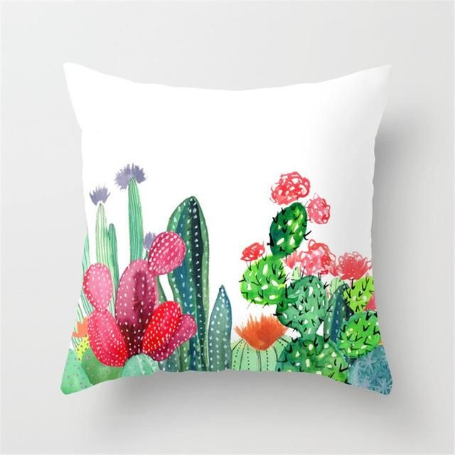 Succulents Throw Pillow Covers 5 Patterns Throw Pillows Cactus Pillow Succulent Throw Pillow