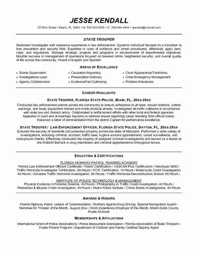 35 New Law Enforcement Resume Template In 2020 Resume