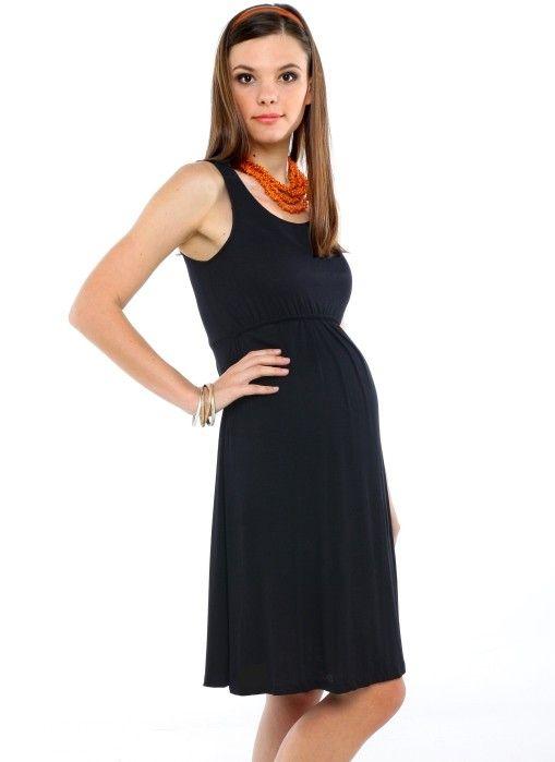 045870b5e52 Maternity Tank Dress Black – Little Black Dress | Black Lace ...