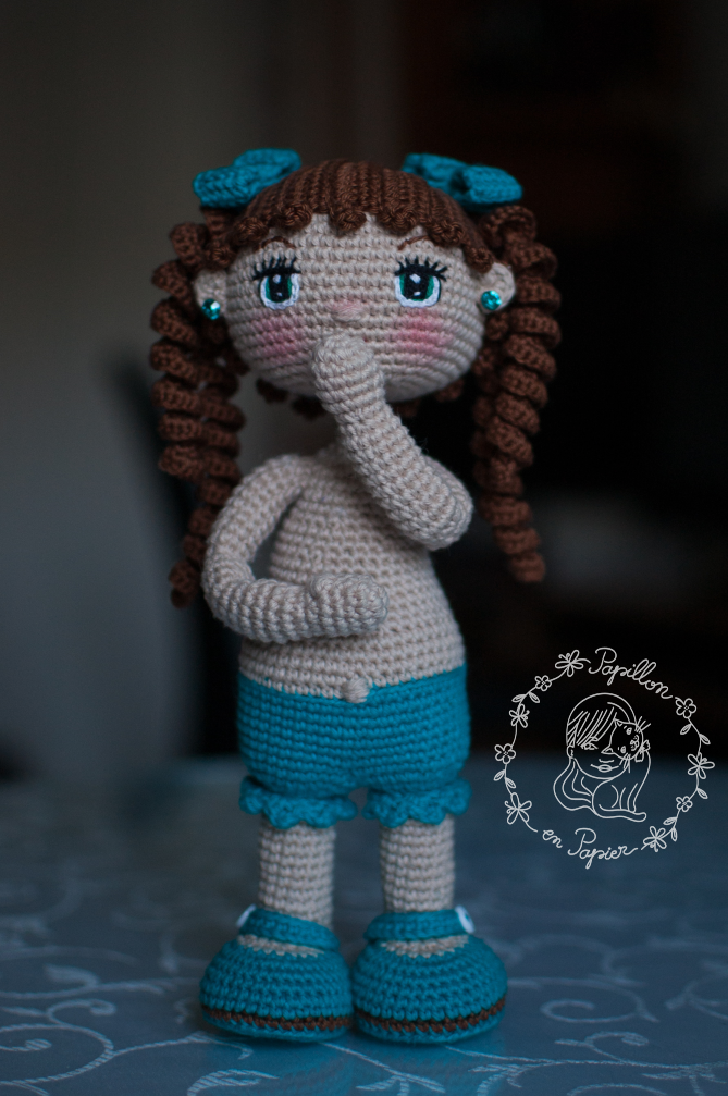 Muneca Alexa was the first doll I tried from Petus youtube channel . She is a mexican crochet doll designer, but unfortunately her channel ... #crochetdoll