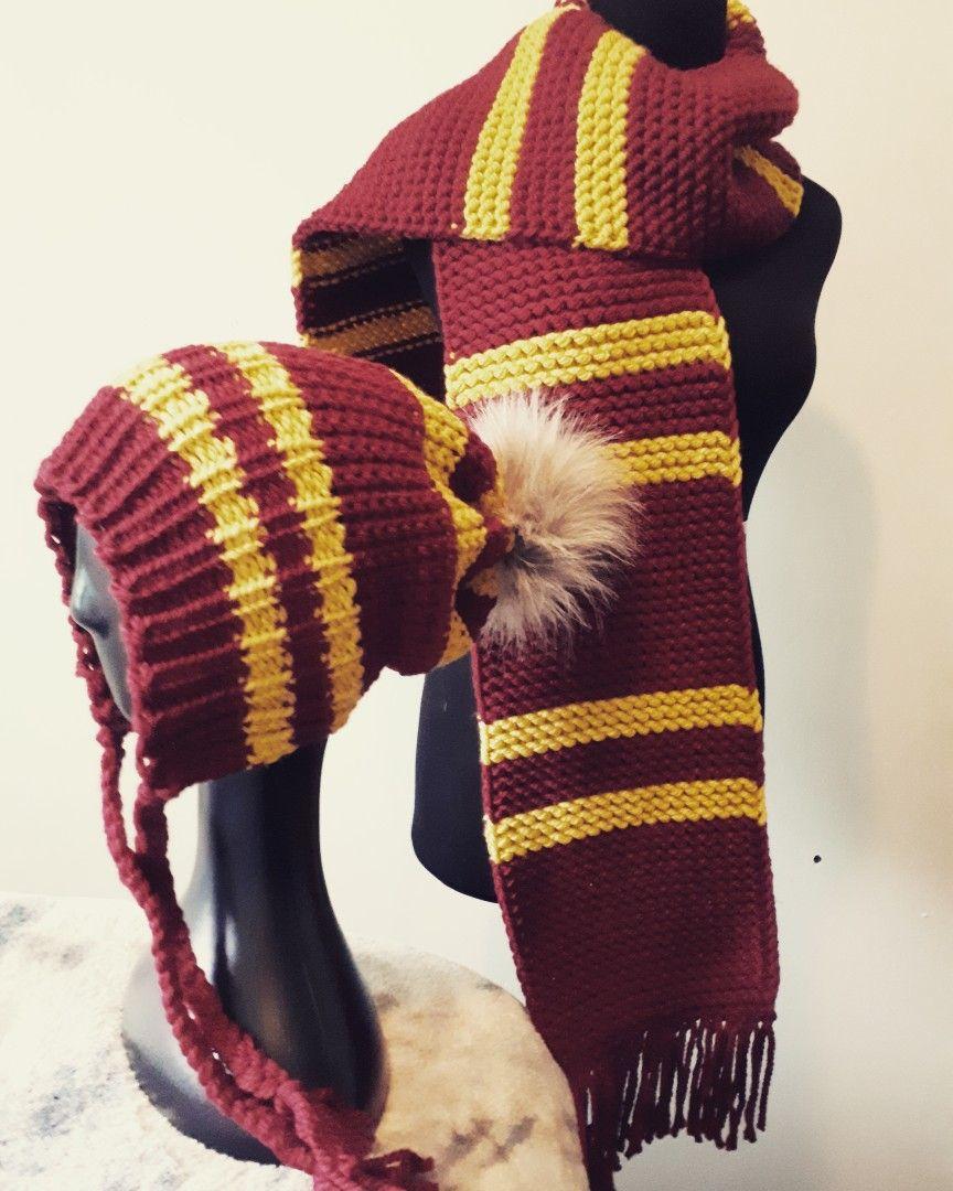 1920dd9e754 Loom Knit Harry Potter Gryffindor set made by me!