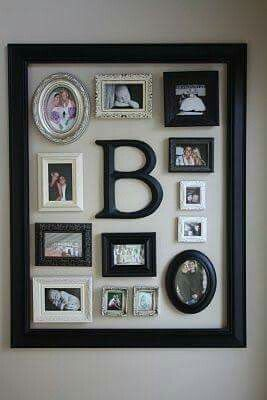 Interesting Idea Large Frame With Smaller Frames Inside Decor