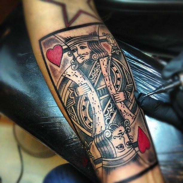kingofheartstattoo#pokertattoo#tattoos#forearmtattoo#artist