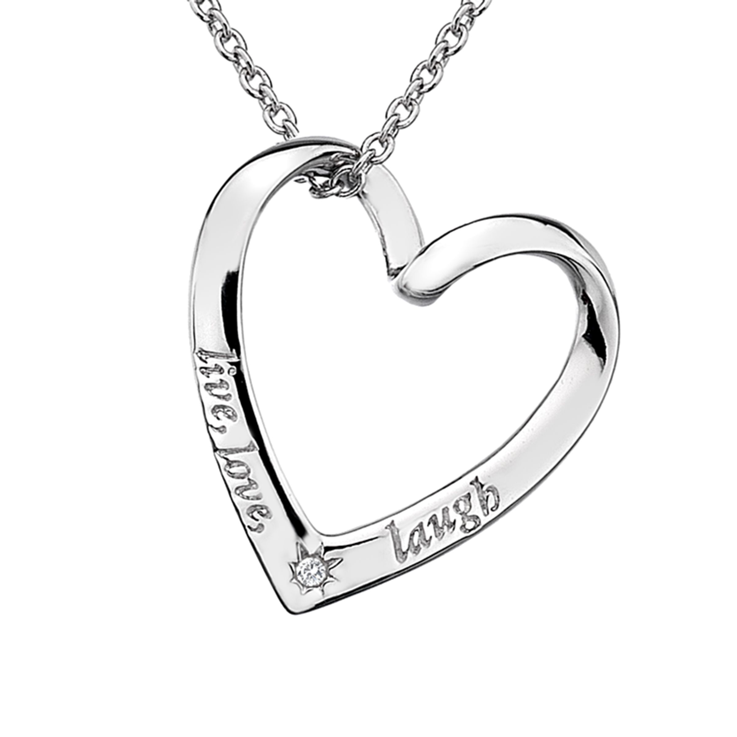 Lily & Lotty Scripted Love Treasure Adore Sterling Silver Necklace - 20 b2BkH4B4vH