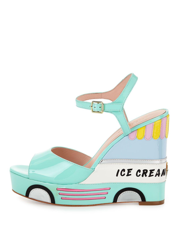 037f9fec81f8 Kate Spade Ice Cream Truck Sandal  wedges  pastel  shoelust