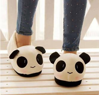 b5b2de399aa New Men Ladies Cute Panda Winter Warm Soft Plush Antiskid Indoor Home  Slippers