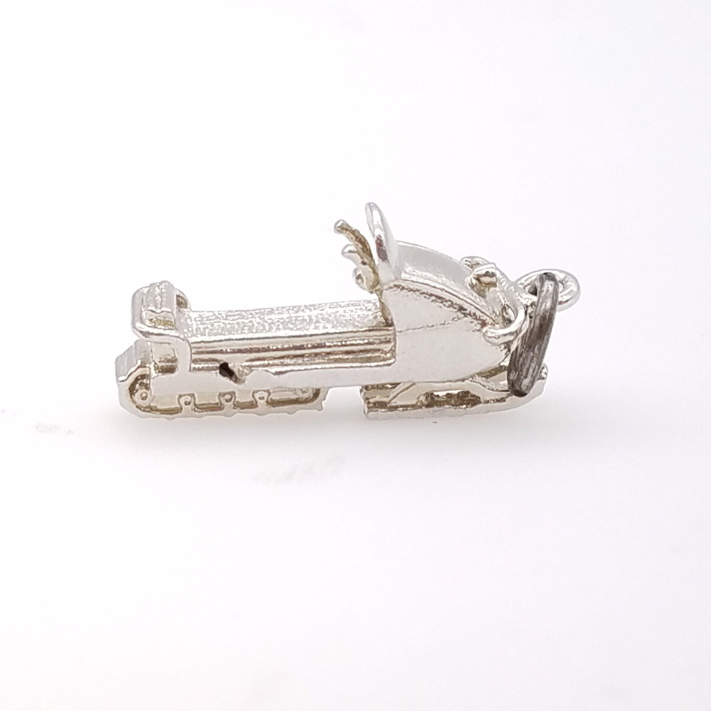 Vintage 925 Sterling Silver Snowmobile Charm Pendant