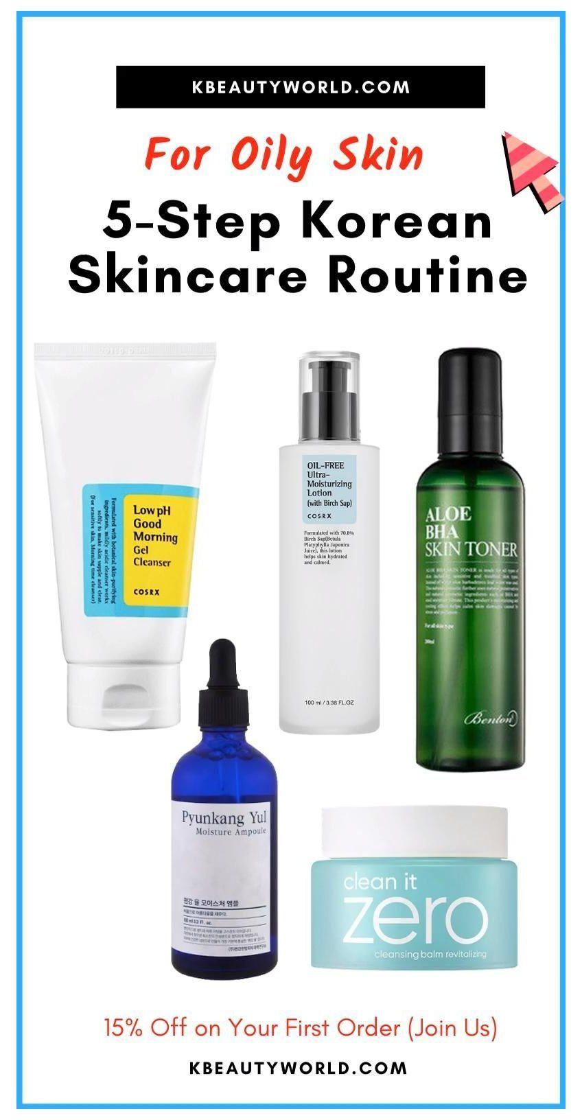 5 Step Korean Skin Care Routine For Oily Skin Skin Care Routine For Acne Drug Store A Daily Skin Car Oily Skin Skin Care Routine Korean Skincare Routine