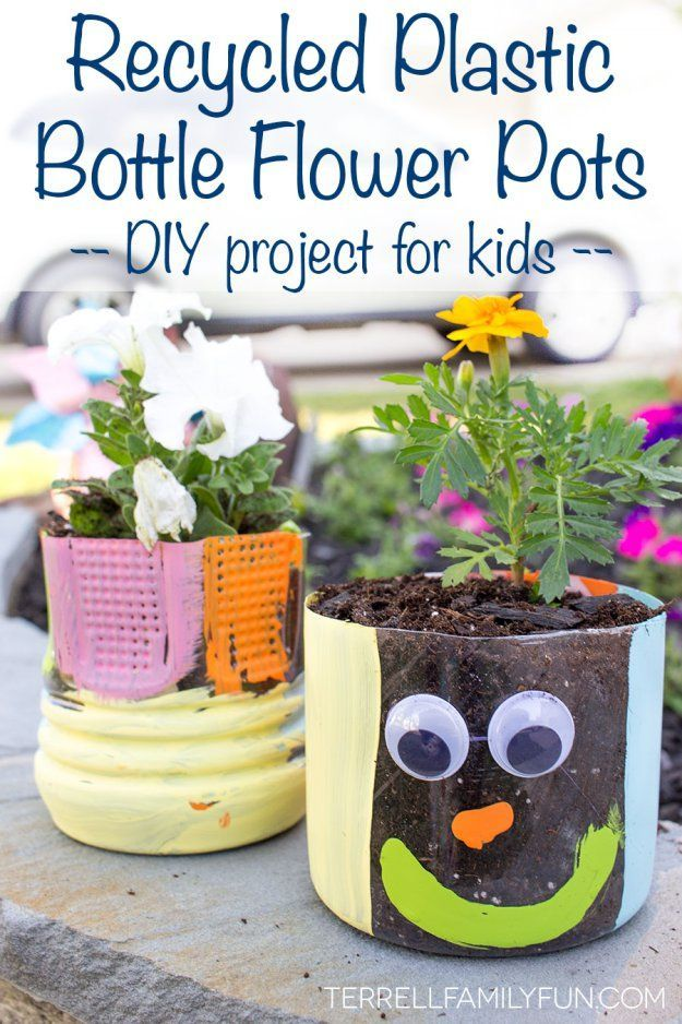 Recycled Plastic Bottle Flower Pots Recycled Planters Earth Day Project Earth Day Kid\u0027s Craft DIY Flower Pots #MyDataMyWay #Ad #earthday  sc 1 st  Pinterest & I use My Data My Way to Find Fun Spring Crafts | Homeschoolin ...