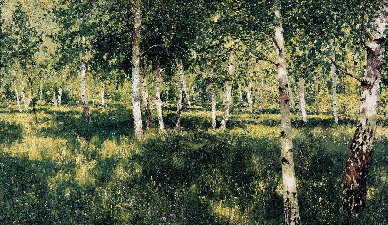 Isaac Levitan Birch Grove 1889