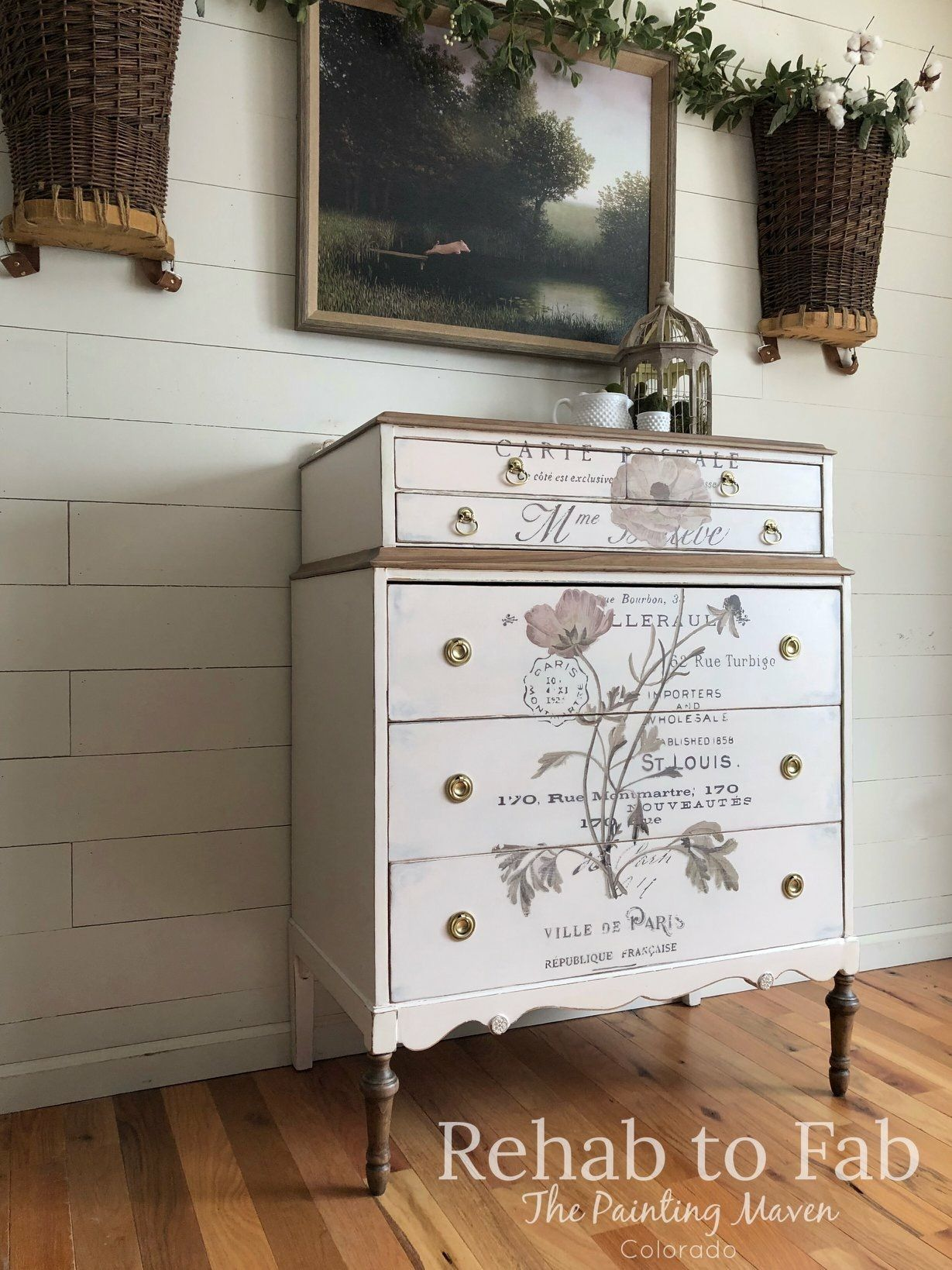 Blush Antique Dresser Painted By Rehab To Fab Re Design Collection Transfers Diy Home Furniture Dresser Inspiration Refinishing Furniture