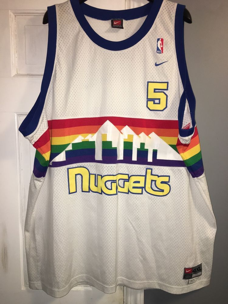 low priced 5e453 5639d denver nuggets 80s jersey