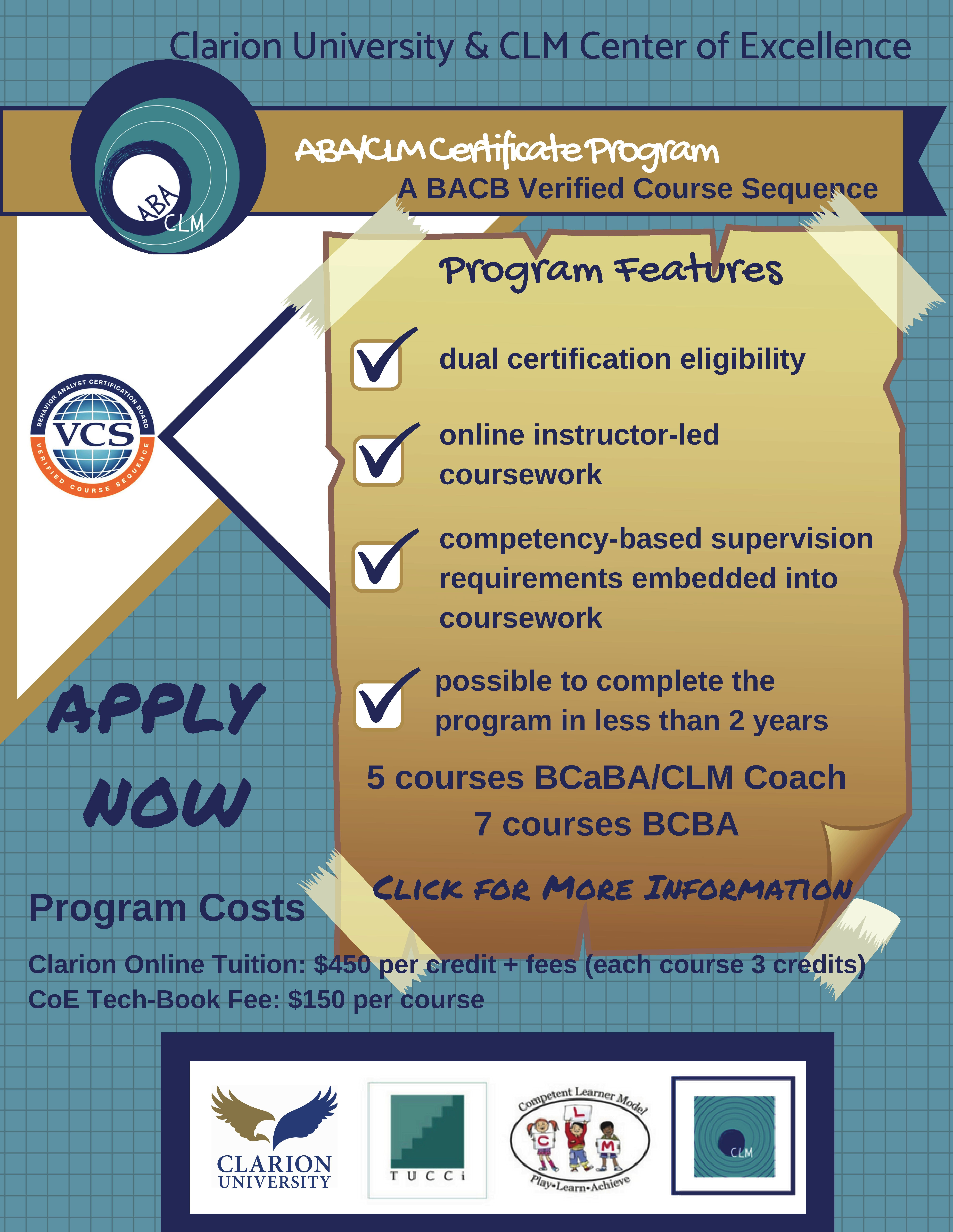 It is an online certificate program! Want to become a BCaBA or BCBA