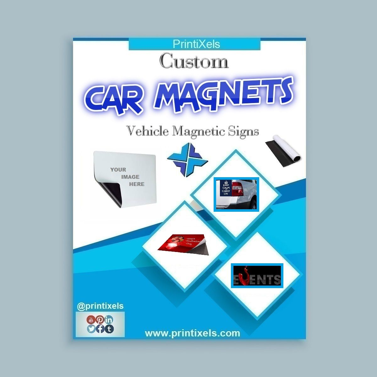 Custom Car Magnets Vehicle Magnetic Signs Signage Maker - Custom car magnet maker