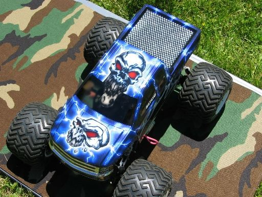 Scotts ILL WiLL Truck With Custom Painted Skulls Silverado Body - Custom vinyl decals for rc carsimages of cars painted with flames true fire flames on rc car
