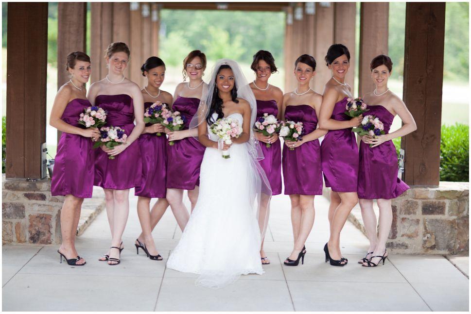Sangria bridesmaid dresses | I said yes! : ) | Pinterest