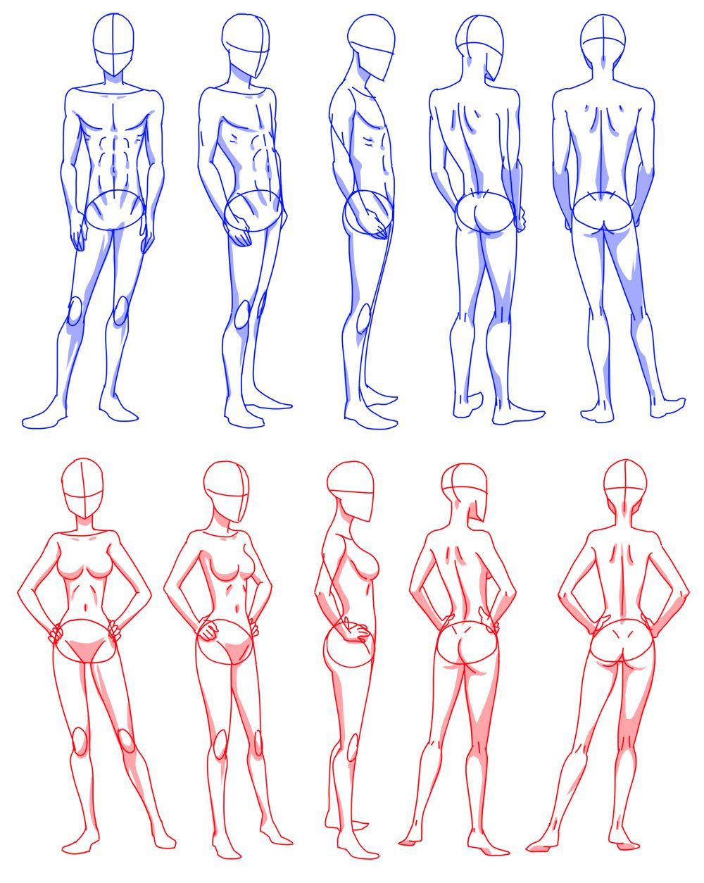 Body Rotation Body Shape Drawing Human Figure Drawing Figure Drawing