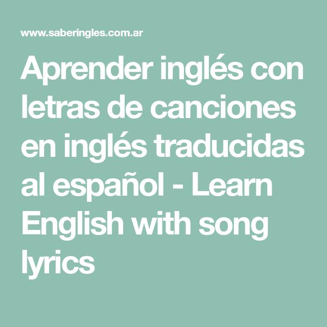 Pin En Canciones Inglés