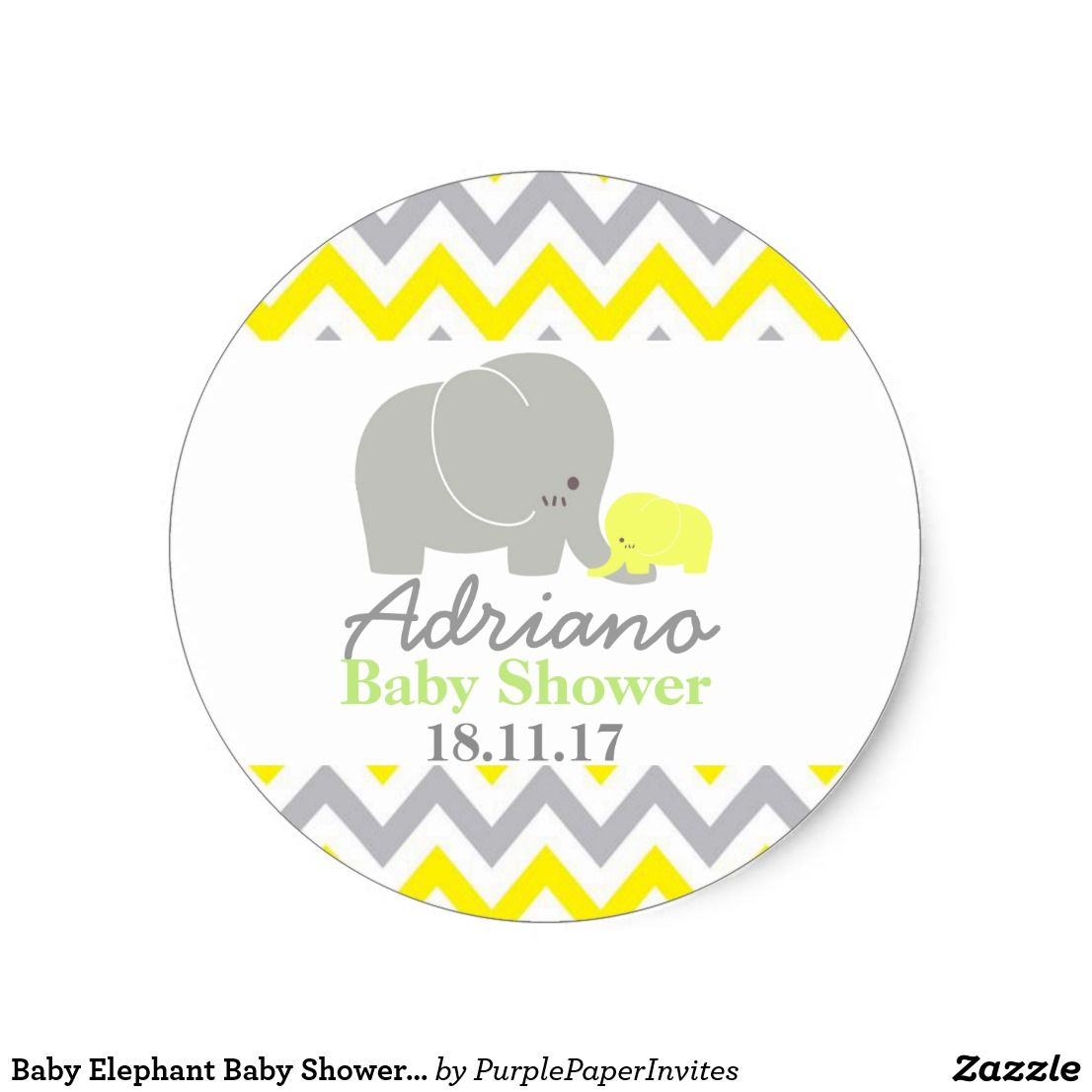 Baby Elephant Baby Shower Favor Labels Elephant Baby Shower Favors