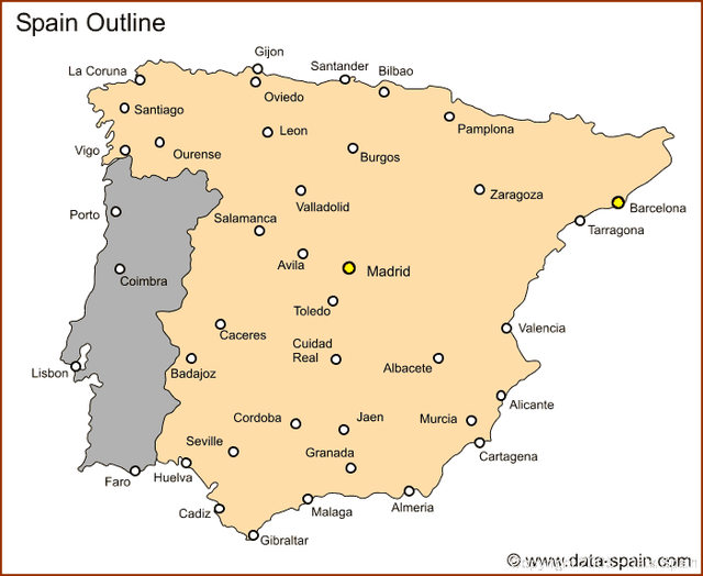 Spain Map Major Cities Google Search Spain Pinterest Spain - Portugal map with airports