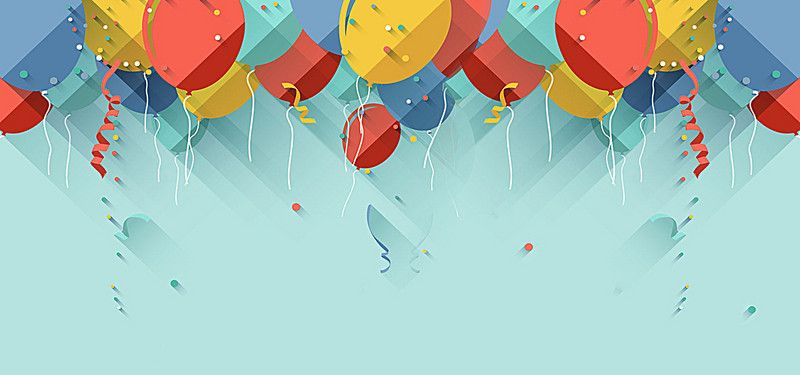 Celebration Festive Balloons Float Christmas Card Template
