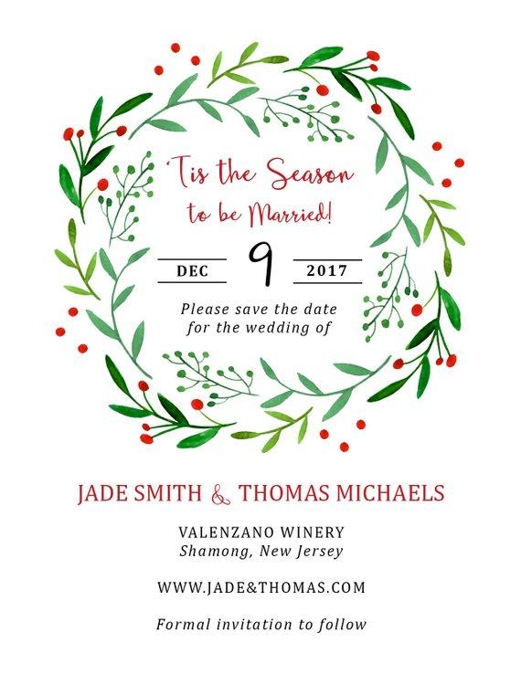 Christmas Save the Date - Married Christmas - Holiday Wedding