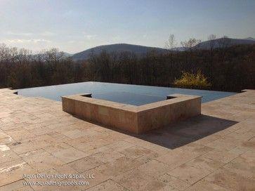 Modern Infinity Edge Pool - modern - Pool - Atlanta - Aqua Design ...