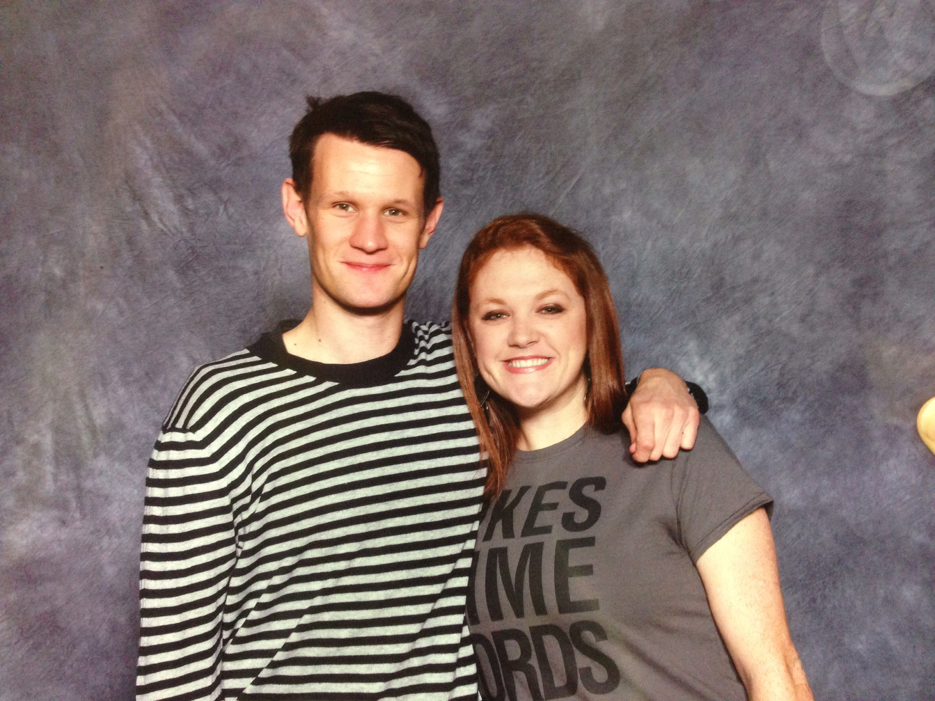 Me and the Doctor. I mean whatever ;-) Matt smith and I at Louisville wizard world
