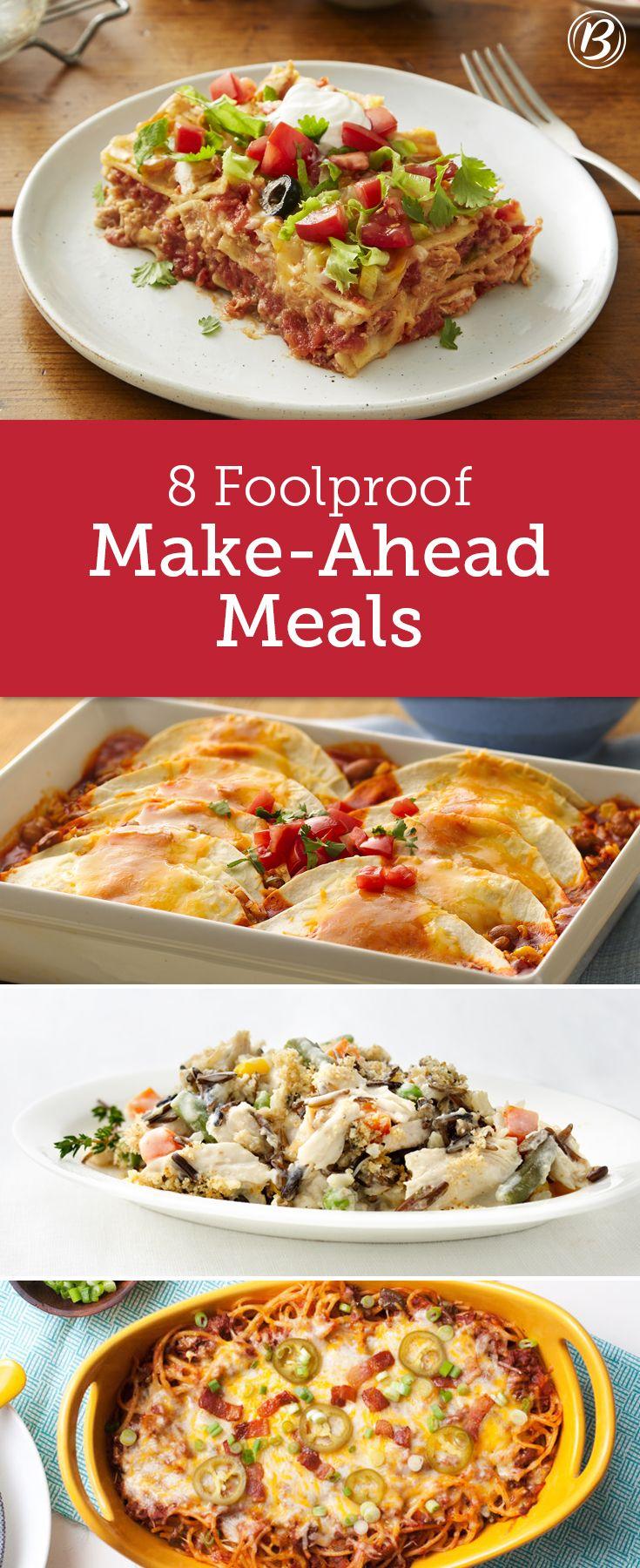 Freezer Meals You Can Make Ahead Meals Make Ahead Meals Food
