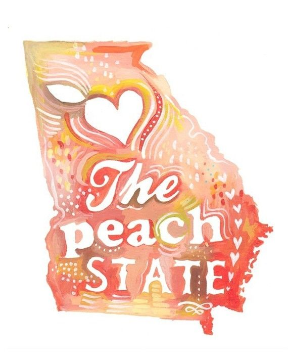 Peach State  8x10 by thewheatfield on Etsy, $15.00