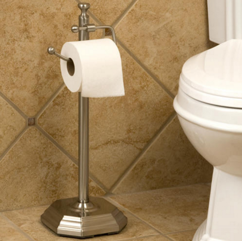 Free Standing Toilet Paper Holder Brushed Nickel Free Standing Toilet Paper Holder Toilet Paper Holder Unique Toilet Paper Holder