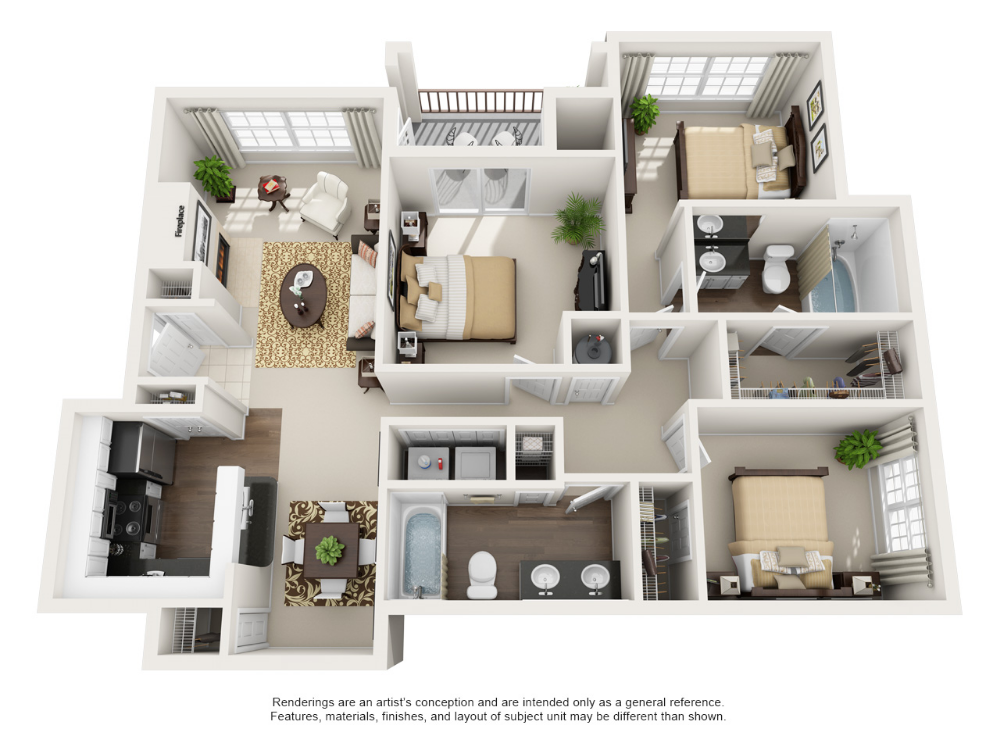 1 2 3 Bedroom Apartments In Euless Tx Three Bedroom House Plan Bedroom House Plans Sims House Plans