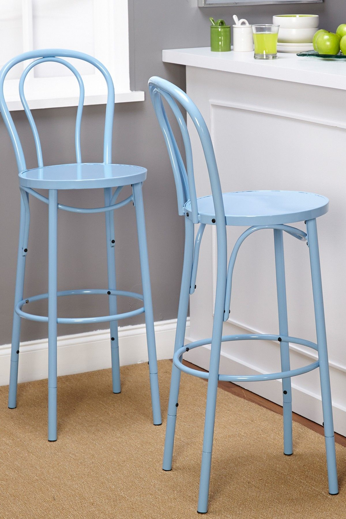 Blue Vintage Inspire Adjustable Height Barstool | Home | Pinterest ...
