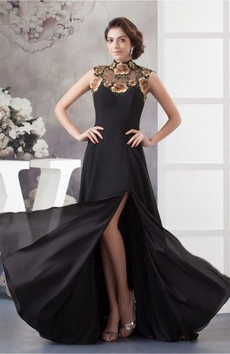 Black Lace Prom Dress Inexpensive Luxury Chiffon Hourgl Pretty Beach Trendy
