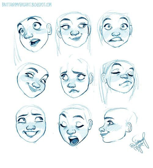 Expresiones Femeninas Referencias De Diseno De Personajes Rostros De Dibujos Animados Cosas De Dibujo