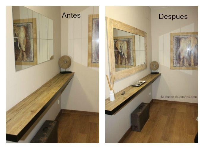 Un recibidor como nuevo gracias a la madera de palets | Recibidor ...