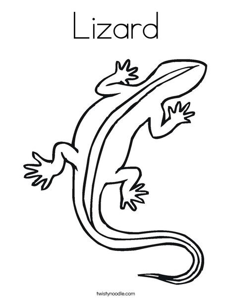 Lizard Coloring Page Coloring Pages Lizard Iguana