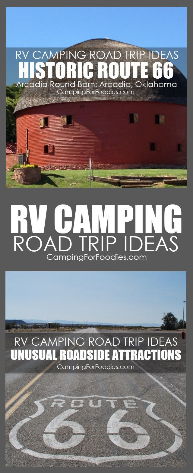 rv camping road trip ideas with unusual roadside attractions to