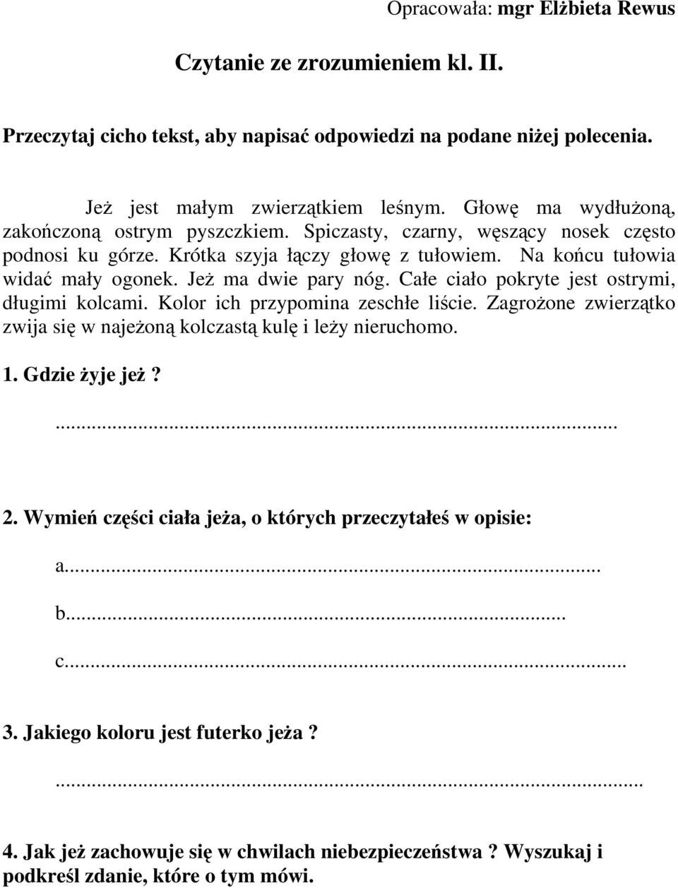 Czytanie Ze Zrozumieniem Education Polish Language Educational Crafts