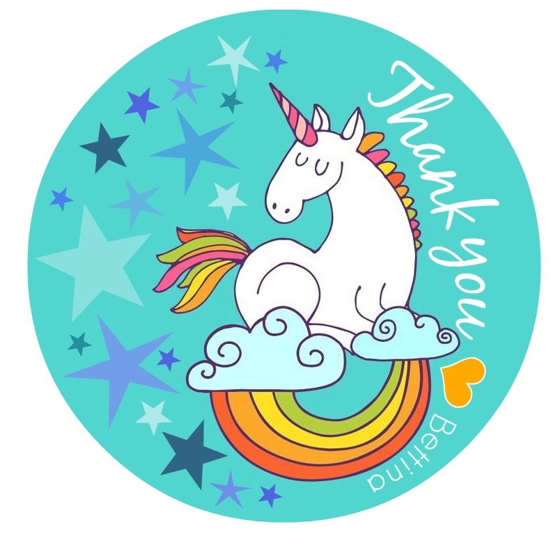 thank you card  unicorn  unicornio reciclaje etiquetas