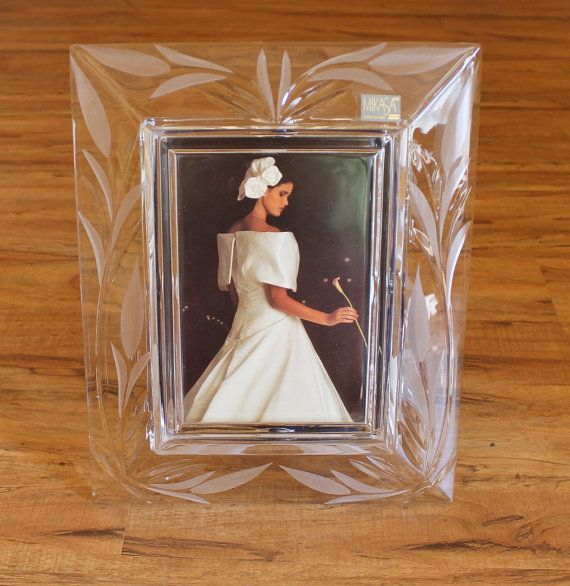 MIKASA Crystal picture frame CONTESSA for 5x7 by CaliforniaPicks ...
