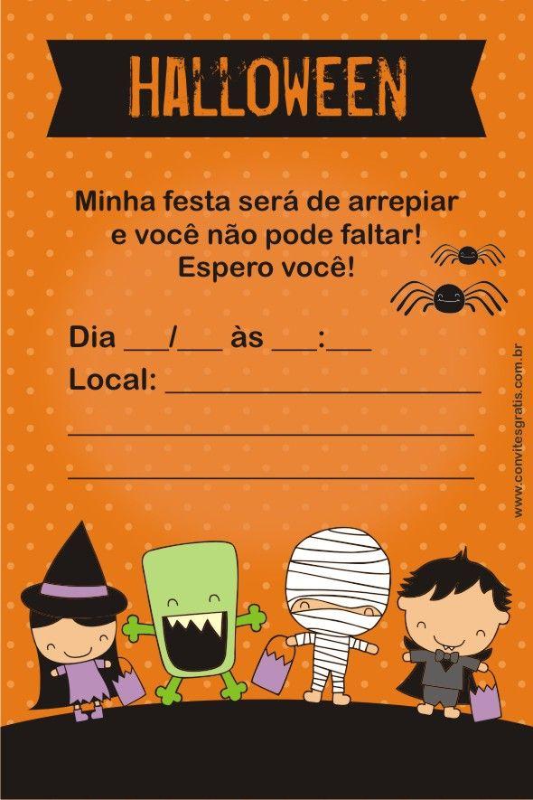 Convites Grátis Halloween Halloween Halloween Party