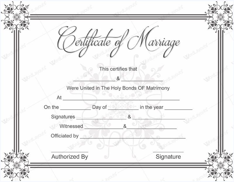 Marriage License Template Best Of Top Result 60 Beautiful Marriage