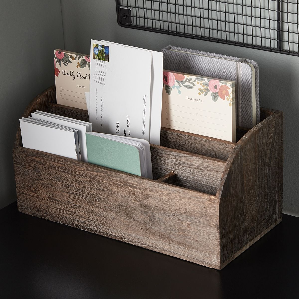 Sort Important Paperwork Mail Notes And Documents In Style Kitchen Desk Organization Desk Organization Home Office Furniture