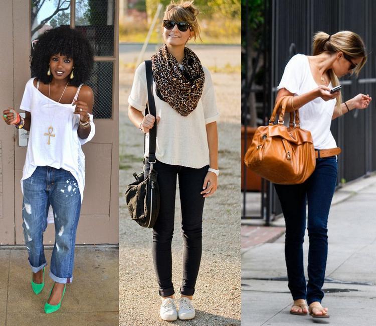 15 looks incríveis com jeans e blusa branca