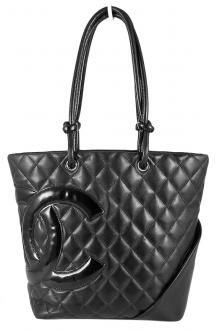 9d61bfab483d9 Chanel Black Quilted Calfskin Leather CC Cambon Tote Bucket Bag