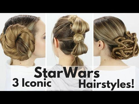 Leia, Rey, and Padme's Hairstyles Tutorial! - YouTube