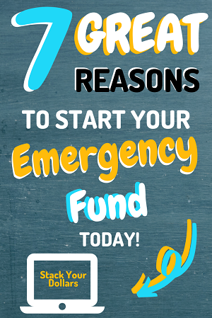 These 7 examples will show you why you should build an emergency fund and how you can start today. Follow my easy tips to help you live a little more frugally and start your emergency funds savings plan. You will also learn where you should put your emergency fund so that it is easily accessible when you need it. Get started now with my easy emergency fund challenge! #StackYourDollars #EmergencyFund #FrugalLife #SaveMoney #DebtFree