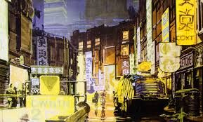 jean giraud blade runner - Sketch by Syd Mead for Blade Runner directed by Ridley Scott, 1982
