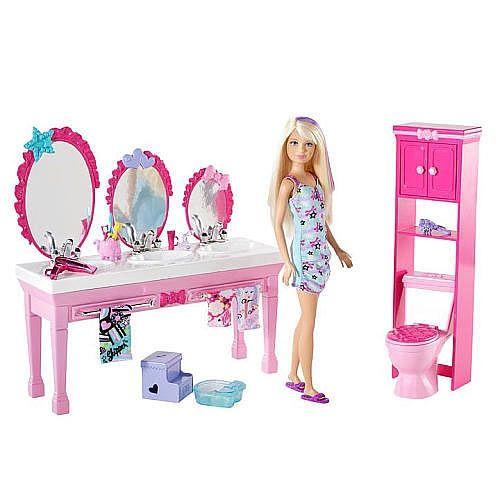 Barbie Sisters Beauty Fun Bathroom Skipper Doll